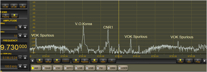 9730kHz Voice of Korea & CNR1