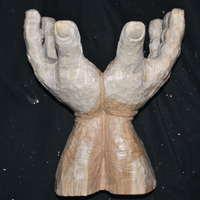 秋の展覧会に向けて 26 丸太を彫る 仕上げに向けて 02