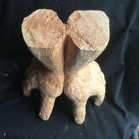 秋の展覧会に向けて 27 丸太を彫る 彫り終えた