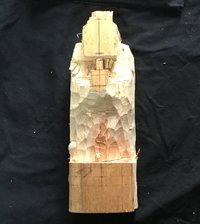 円空仏 模刻の世界 笠松町慈眼寺 毘沙門天を彫る 3