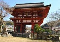 岡崎・滝山寺 三門と金剛力士