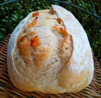桃酵母 煮りんごパン