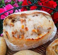 ぶどう酵母 オレンジピールと向日葵の種のパン